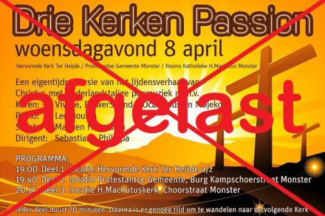 *AFGELAST*  Drie Kerken Passion in Ter Heijde / Monster