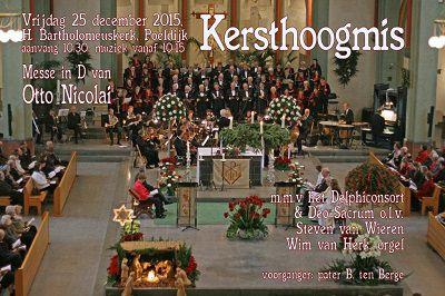 Traditie met feestelijke Hoogmis op Kerstmorgen in Poeldijk