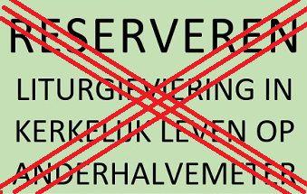 Versoepelingen regels - RESERVEREN NIET LANGER NOODZAKELIJK