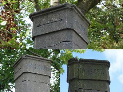 Grenspaal ter herinnering terug in Kwintsheul