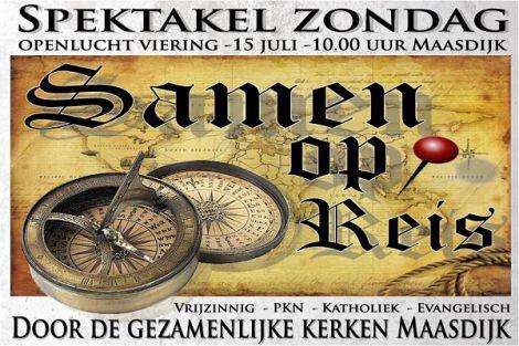 'Samen op reis' - Openluchtviering in Maasdijk