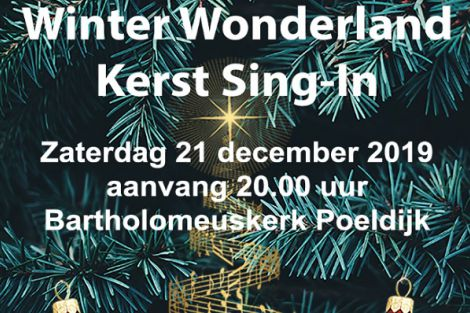 Winter Wonderland Kerst Sing-in